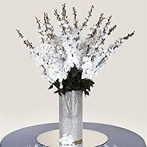 3 Artificial Delphinium Bushes Wedding Vase Centerpiece Decor - White 5