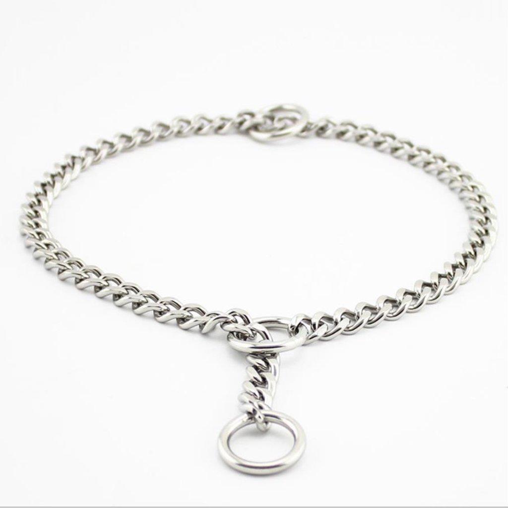 45cm GWM Leashes Pet Collar P Chain Dog Chain Pet Supplies Strong Chain Snake Metal Collar Dog Training Collars (Size   45cm)