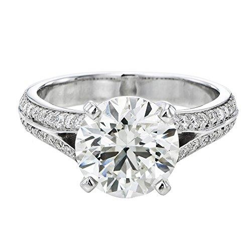 Moissanite Forever One Engagement Ring in 14k Gold 6.50MM...