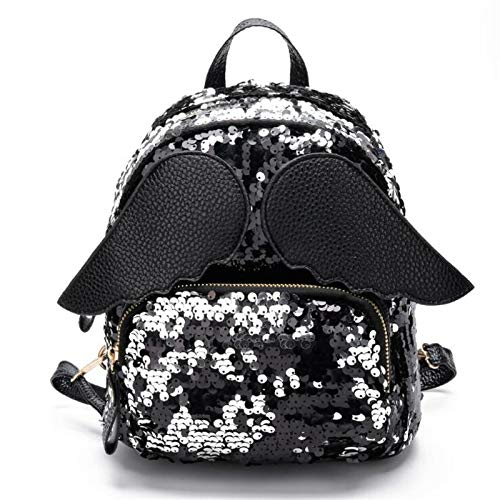 NEW Women Sequins Backpacks F Preppy Style Lovely Travel School Bag Bling Wings Shoulder Bags For Teenager Girls M40 1 -