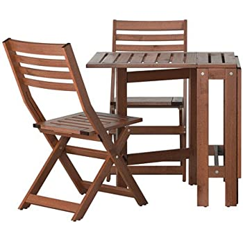 This Item Ikea ÄPPLARÖ Outdoor Wooden Folding Bistro Table And 2 Folding  Chairs