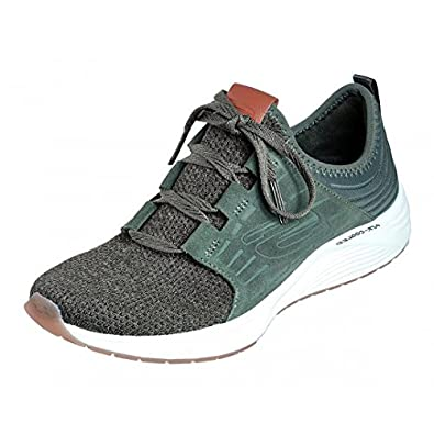 c80947c78 Skechers Skyline Olive Green Memory Foam Slip On Trainers: Amazon.co.uk:  Shoes & Bags