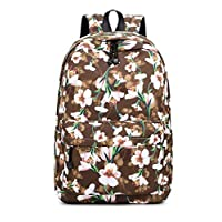 "Acmebon Girls Fashion Printed Pattern Backpack Casual Student Backpack Fit 15.6"" Laptop"