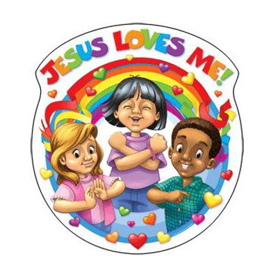 Jesus Loves Me Cut Out [Set of 3]