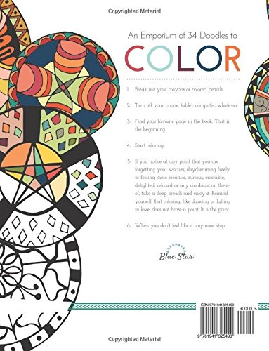 Doodle Emporium A Stress Relieving Adult Coloring Book Amazoncouk Blue Star Lori Geisler 9781941325490 Books