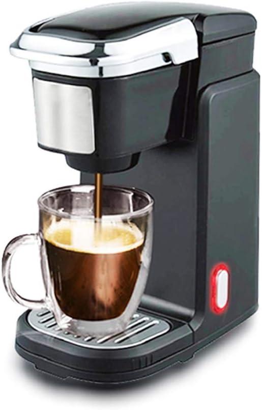 Cafetera de Cápsulas - Cafeteras Extracción Profesional Operación con un Solo Botón Se Puede Utilizar Café en Polvo Fácil de Limpiar Sellado Fresco 300ML 800W, Negro: Amazon.es: Hogar