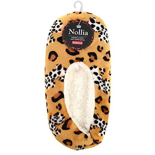 Taupe Leopard Women's Slippers Print Nollia House SAwqx0