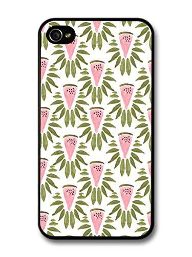 Water Melon Pattern Hipster Grunge Rustic Cute Fashion coque pour iPhone 4 4S