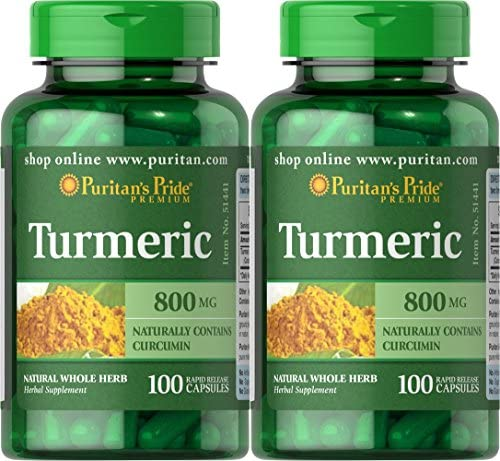 Puritan s Pride 2 Pack of Turmeric 800 mg Puritan s Pride Turmeric 800 mg-100 Capsules