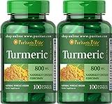 Cheap Puritan's Pride 2 Pack of Turmeric 800 mg Puritan's Pride Turmeric 800 mg-100 Capsules