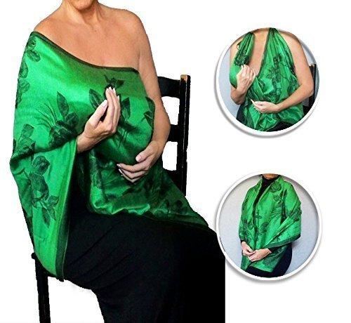 St. Patrick's Day Maternity Clothes Green Nursing Cover Scarf By ZiiCi