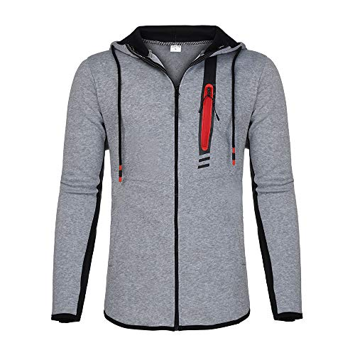 Aimee7 gran Man Coat de o con Sudaderas Ch tama Splicing Zipper capucha 6r6an