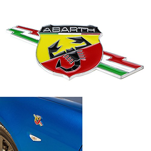 (1) Scorpion Chrome Alloy Metal Badge Emblem For Fiat 500, 124 Spider Rear Trunk or Fender/Side Doors Fiat Spider