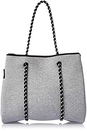 Prene POR-LIG-GRE Tote Bag, Light Grey Marle