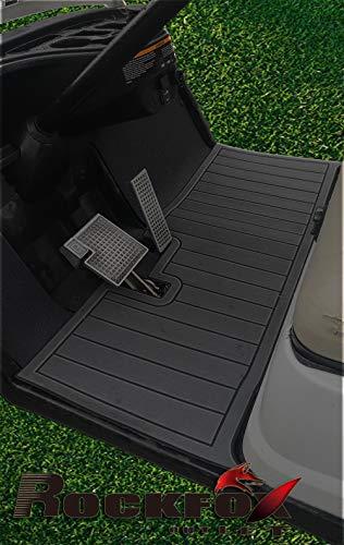 RockFox Outlet Golf Cart Floor Mat with EVA Environmentally Friendly Material. Luxury Floor Mat is A Great Choice to Dress Up Cart. (Yamaha Drive 1&2, Dark Grey)