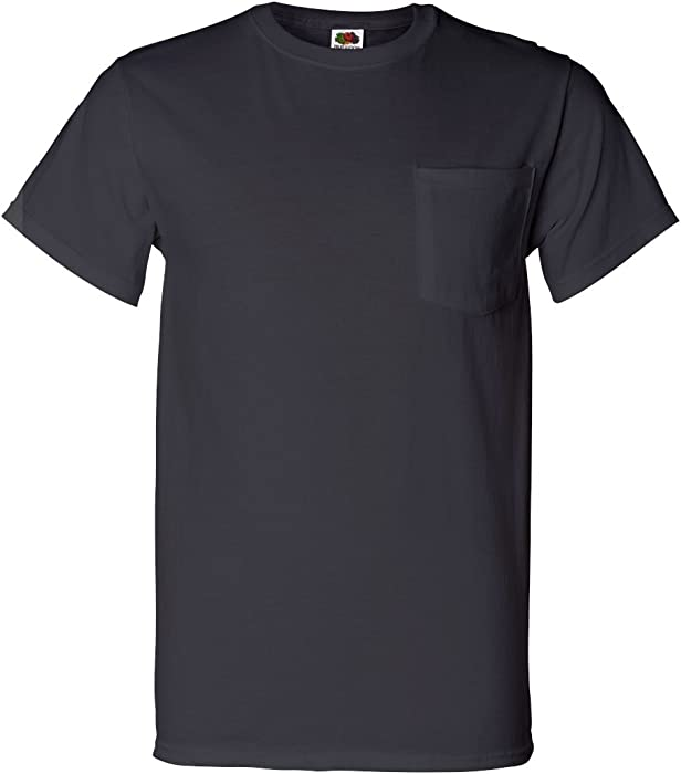 58781dcc Fruit of the Loom Men's 4-Pack of Pocket T-Shirts (Small, Burnt ...