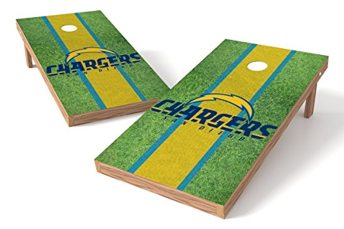 Wild Sports NFL San Diego Chargers 2' x 4' Field Authentic Cornhole Game Set