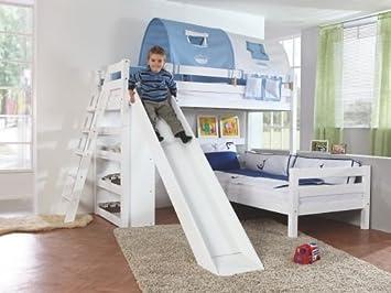 Etagenbett Relita : Relita etagenbett sky in buche massiv weiß lackiert mit er