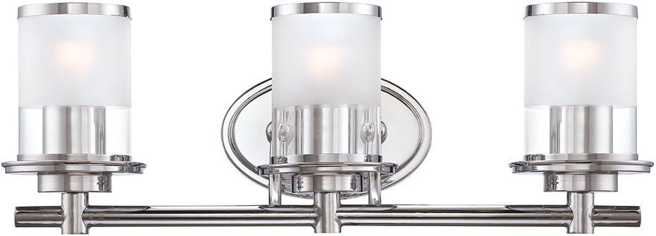 Designers Fountain 6693 Ch Essence 3 Light Bath Bar Chrome Vanity Lighting Fixtures Amazon Com