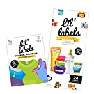 Lil' Labels Daycare Value Pack Write on Name Labels, Waterproof, Baby Bottle Labels (Animal Friends) & Clothing Labels, Plus 2 Bonus Gifts