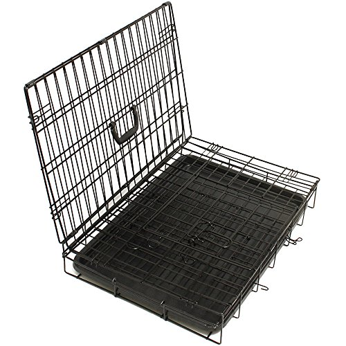 42'' Dog Crate 2 Door w/Divide w/Tray Fold Metal Pet Cage Kennel House for Animal by BestPet (Image #3)