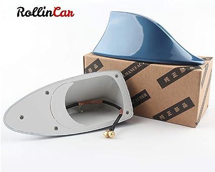 ROLLIN Antena Coche Universal de Aleta Tiburon para Techo Antena ...