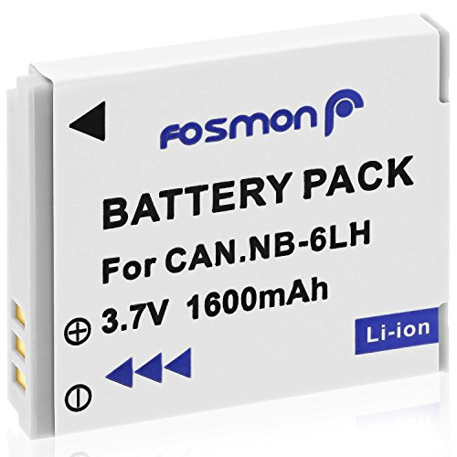 D10 Battery Pack - Fosmon NB-6L 1600mAh Replacement Battery Pack for Canon Powershot SElph X260 HS, S95, D20, SX500 IS, D10, SD1300 IS, SD1200 IS, S90, 500 HS, SX240 HS, SD4000 IS, SD770 IS, SD3500 IS, SD980 IS
