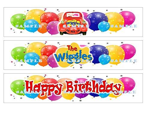 (THE WIGGLE'S BORDER STRIPS : Edible Birthday Cake border strips premium frosting sheets)