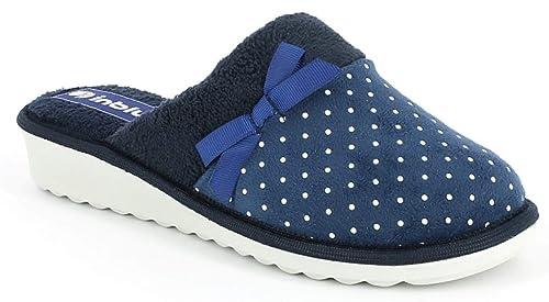 INBLU Pantofole Ciabatte Invernali da Donna Art. CI-72 Blu  Amazon ... 6176d965c2e