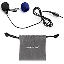 Neewer® NW-805 3.5mm Deluxe Clip-on Lavalier Lapel Omnidirectional Microphone for iPhone 6S plus/6S/6 plus/6/5/5S,iPad 4/3/2,ipod Touch,Samsung Galaxy,Tablets,Laptop and Youtube Video
