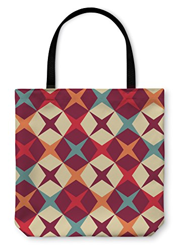 Gear New Shoulder Tote Hand Bag, Geometric Pattern, 18x18, - Sample Optical Bags Frame