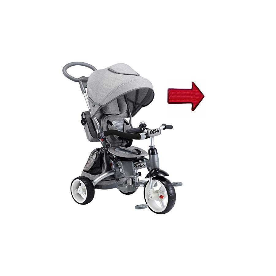 KettlerUSA KiddoIO 6 IN 1 Multi Trike T500 Gray with LED light