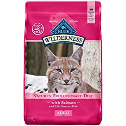 Blue Buffalo Wilderness High Protein Grain Free Adult Dry Cat Food, Salmon 11-Lb