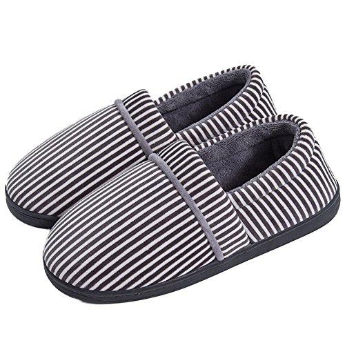 Cyber anti-dérapant Maison Pantoufle Hiver Intérieur Extérieur Chaud Mocassins Chaussures Gris