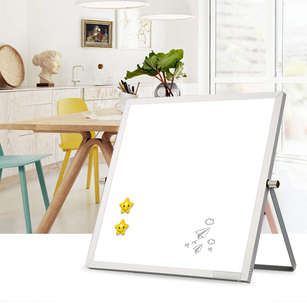 TOYANDONA Small White Board Magnetic Dry Erase Board Double Sided Desktop Planner Reminder Board with Stand for Office Home School Teacher Student