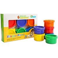 Cherry-Lee 3PCS Juguete para Pintar con los Dedos de los niños, Pinta Colores Vibrantes Lavable Gouache Paint Doodle Set para niños - 6 Colores