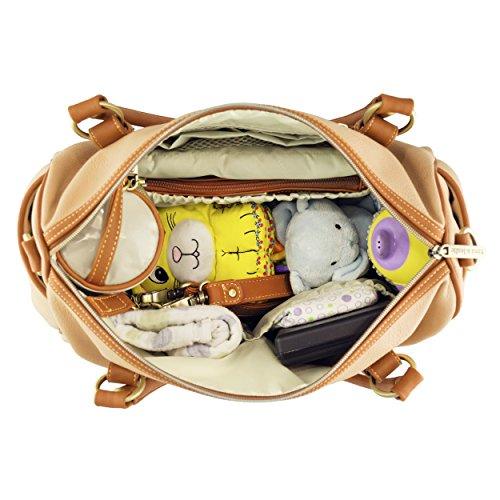 timi & leslie TL23301SD Wickeltasche mit Inhalt, madisonsand/saddle