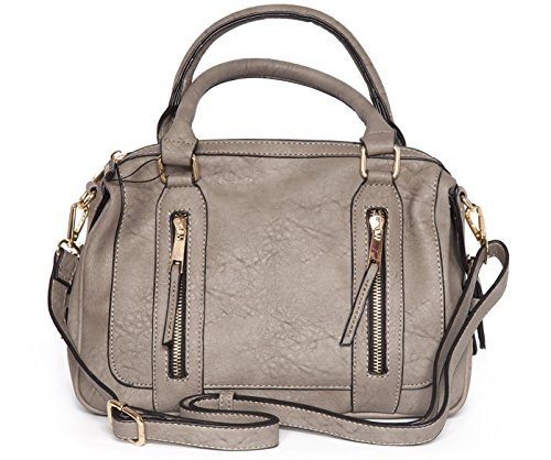 Shoulder strap with Shoulder Top Leather High Handle Faux Grey Ash Bag Quality wXzqX8nx0