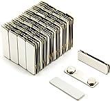 Magnetic Name Badge Backs ID Holders - Wholesale Lot (Pk of 100)