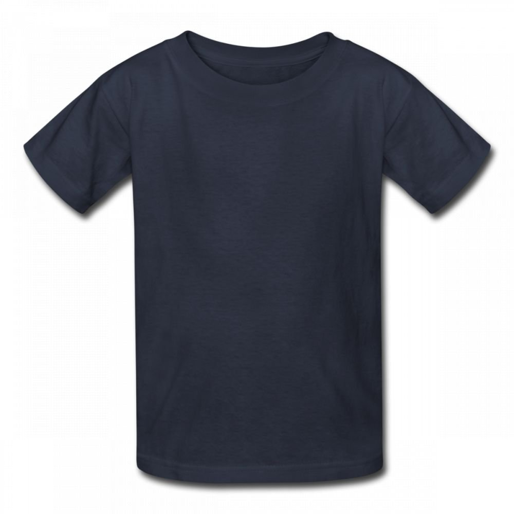 ACFUNEJRQ Pure Color 6-24 Months Baby Short-Sleeved T-Shirt Navy