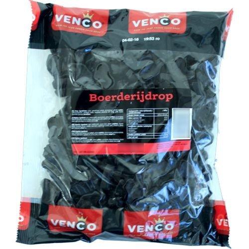 Venco Boerderij Drop Hard Zout / Farm Licorice Hard Salty Candy (1 KiloBag 2.2lbs)