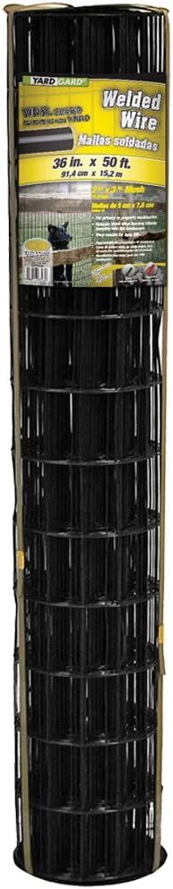 YARDGARD 308381B Fence, Height-36 Inches x Length-50 Ft, Color - Black
