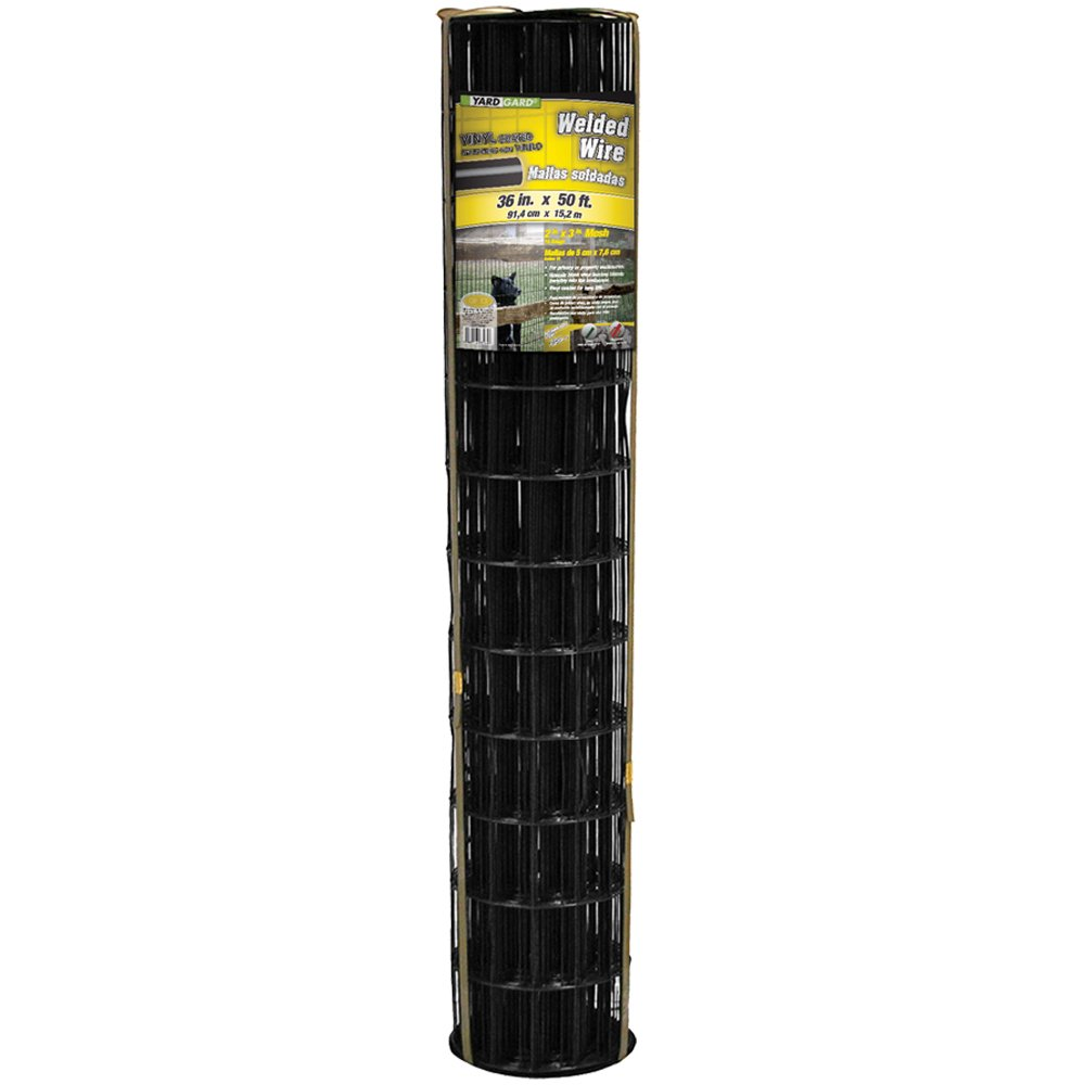 YARDGARD 308381B Fence, Height-36 Inches x Length-50 Ft, Color - Black by YARDGARD