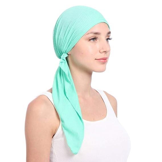 Krystallove Frauen Kopftuch Schal Mehrzweck Headwear Chemotherapie Cap Haarausfall Schlaf Nightcap Turban Cap f/ür Make-up Haarverlust