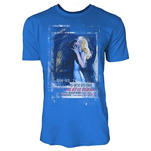 SINUS ART® The Unholy Wife Herren T-Shirts stilvolles royal blaues Fun Shirt mit tollen Aufdruck