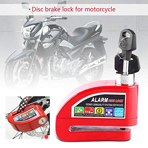 YLWSDDD Universal Motorcycle Security Brake Disc Lock Motorbike Anti-Theft Scooter Disk Alarm