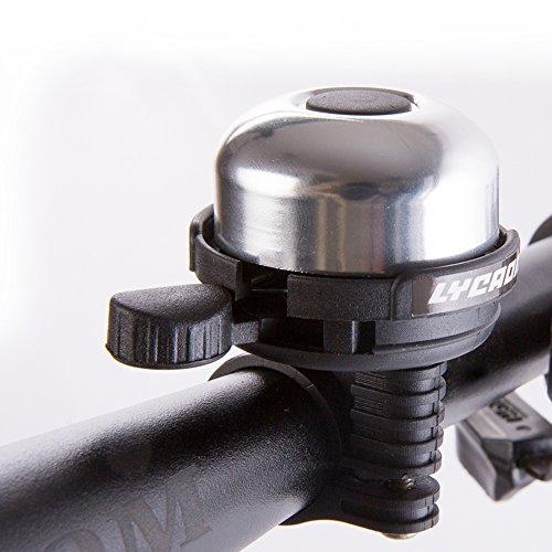 LYCAON Bicycle Bell 8 Colors Mini Aluminum Alloy Bike Ring Loud Crisp (Tone Wedding Bell)