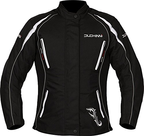 DUCHINNI VERONA 4 SEASON VENTED WOMENS MOTORCYCLE JACKET WITH SIDE STRETCH PANELS AND WATERPROOF/THERMAL LINERS! (Jacket Womens Touring)
