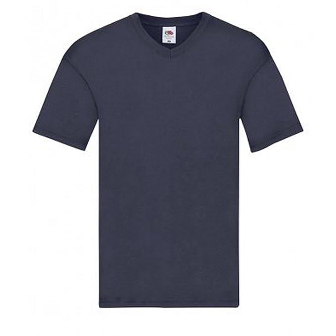 Fruit of the Loom Camiseta de Cuello EN V Modelo Original Para Hombre Lfaka3t