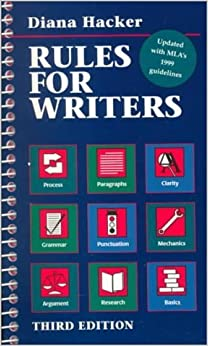 By Hacker,by Diana T. HackerRules for Writers: 1999 Mla Update(text only)3rd (Third) edition 1995